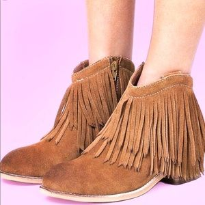 Jeffrey Campbell Boots Sz 9 Women's Tan Suede